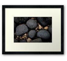 Basalt Boulders at Don Headlands Framed Print