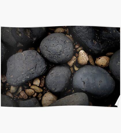 Basalt Boulders at Don Headlands Poster