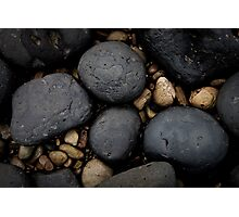 Basalt Boulders at Don Headlands Photographic Print