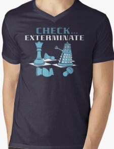 Check Exterminate Mens V-Neck T-Shirt