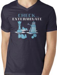 Check Exterminate Mens V-Neck T-Shirt