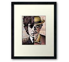 """Bob Dylan """"Man v. Myth"""" Framed Print"""
