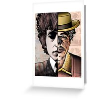 "Bob Dylan ""Man v. Myth"" Greeting Card"