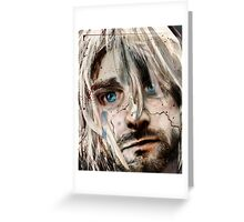 "Kurt Cobain ""Verse Chorus Hearse"" Greeting Card"