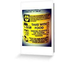 Warnings Greeting Card