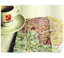Coffee and a Map Poster