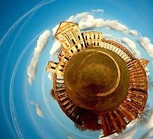 Ruzhany Castle Planetary Panorama Revisited by Dmitry Shytsko