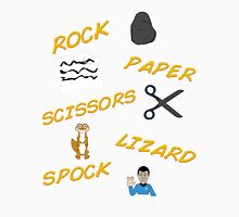 Rock, Paper, Scissors, Lizard, Spock! Unisex T-Shirt