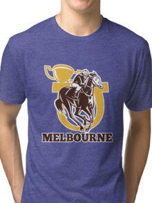 horse race jockey racing champion cup Tri-blend T-Shirt