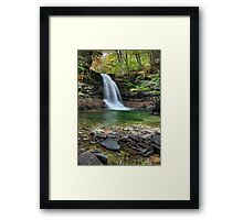 Autumn at Lewis Falls Framed Print