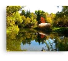 October mirror Canvas Print