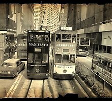 Hong Kong trams by Cara Gallardo Weil