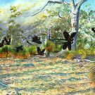 Cockatoo landscape by melhillswildart