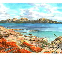 The Hazards from Coles Bay by melhillswildart