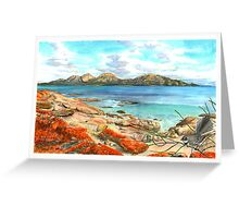 The Hazards from Coles Bay Greeting Card