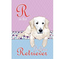 R is for (Golden) Retriever Photographic Print