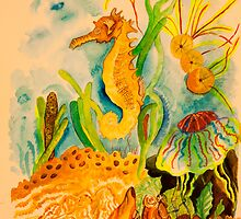 The sea horse by Nora Fraser