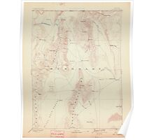 USGS Topo Map Nevada Disaster 321655 1893 250000 Poster