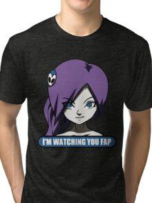 zone tan im waching you fap Tri-blend T-Shirt