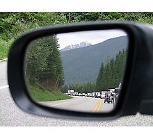 Side Mirror View Photographic Print