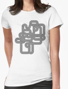 Vintage Vector Wave Womens Fitted T-Shirt