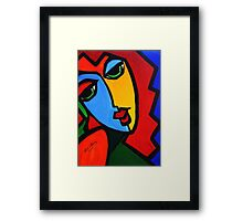 NEW  PICASSO BY NORA  Puzzle Girl Framed Print