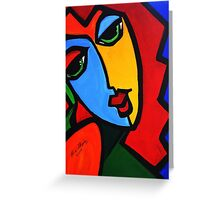 NEW  PICASSO BY NORA  Puzzle Girl Greeting Card