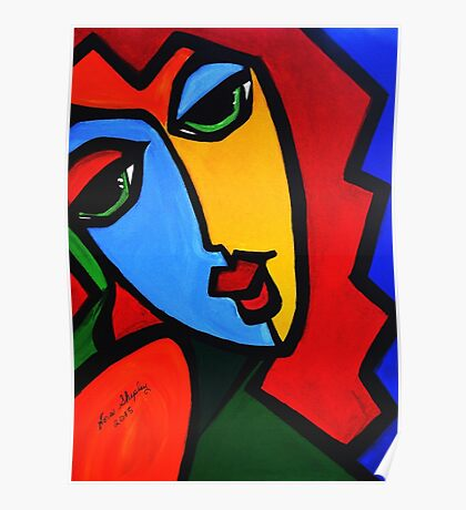 NEW  PICASSO BY NORA  Puzzle Girl Poster