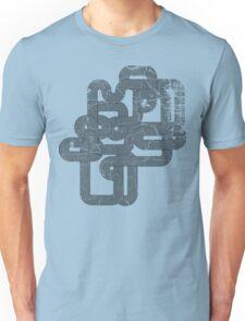 Distressed Vintage Vector Wave Unisex T-Shirt