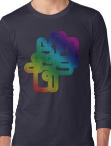 Vintage Rainbow Vector Wave Long Sleeve T-Shirt