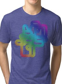 Vintage Rainbow Vector Wave Tri-blend T-Shirt