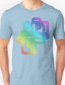 Vintage Rainbow Vector Wave T-Shirt