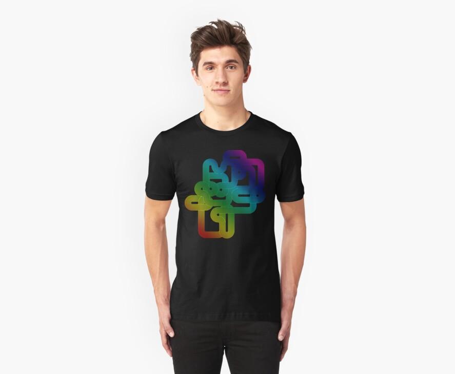 Vintage Rainbow Vector Wave by Bluesly