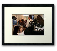 Reserved for hairdressing Framed Print