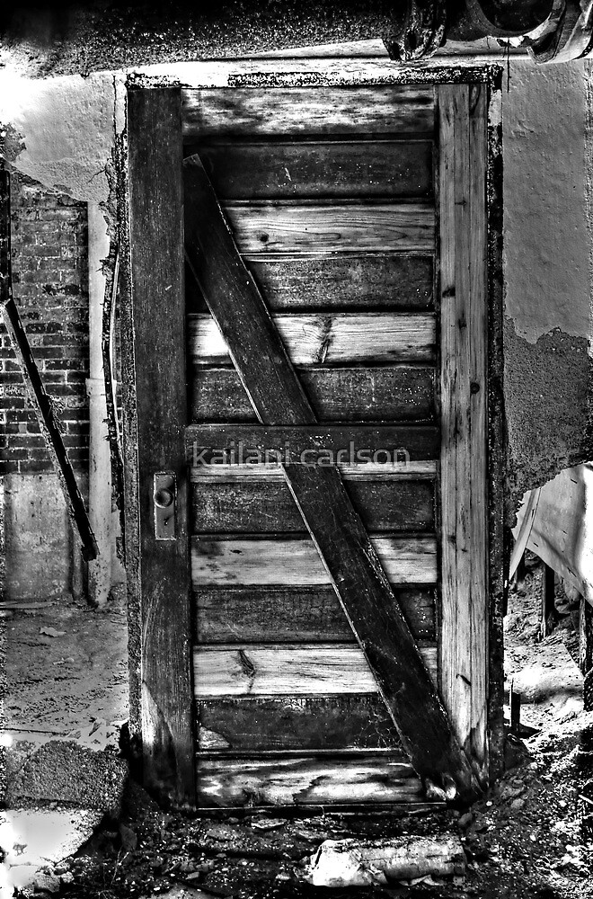 Door with no wall?? by MJD Photography  Portraits and Abandoned Ruins