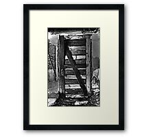 Door with no wall?? Framed Print
