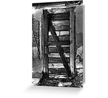 Door with no wall?? Greeting Card