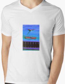 Blue 55 Chevy  Mens V-Neck T-Shirt