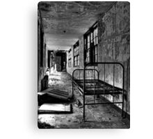 Psych Hall Patient Bed Canvas Print