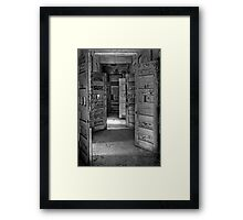 Patients are given their freedom to the streets Framed Print