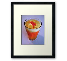 """Fresh Pineapple With a Splash of Carrot Juice"" Framed Print"