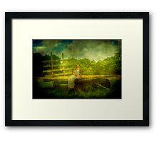 Peaceful Texture Framed Print