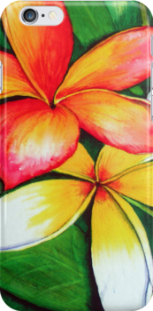 Frangipanis iPhone Case by Linda Callaghan