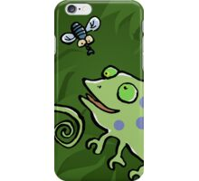 chameleon and fly iPhone Case/Skin