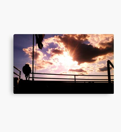 Clouds off the bow of the Clipper Winnebago  Canvas Print