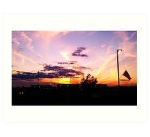 Sunset over Northern Wisconsin Art Print