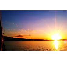 Sunset over the Wisconsin River Photographic Print