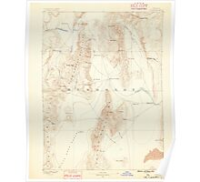 USGS Topo Map Nevada Disaster 321653 1886 250000 Poster