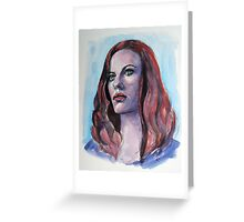 Cassidy Freeman, featured in The Group, Painters universe Greeting Card