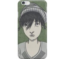 frowny mcgee uses an iphone iPhone Case/Skin